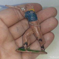Figuras de Goma y PVC: TEIXIDO - PECH : ANTIGUO VAQUERO COWBOY DE GOMA AÑOS 50. Lote 275699133