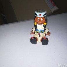 Figuras de Goma y PVC: YAKARI FIGURA DE PVC AÑOS 80 SCHLEICH NIÑA INDIA. Lote 275796093
