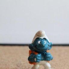 Figuras de Goma y PVC: MUÑECO DE GOMA. LOS PITUFOS. PITUFO ESTUDIANTE. PEYO.. Lote 275863783