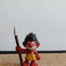 Figuras de Goma y PVC: MUÑECO DE GOMA. LOS PITUFOS. PITUFO INDÍGENA. BULLY.. Lote 275864543