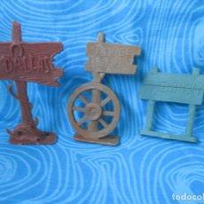 Figuras de Goma y PVC: LOTE TRES CARTELES, DOODGE CITY, TO KENTUCKY, DALLAS. Lote 275989228