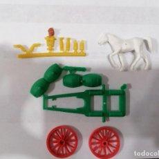 Figuras de Goma y PVC: MONTAPLEX ESJUSA - SERIE MONTAMAN - EXTRA 56 - CARRETA DE BARRILES -COLADA. Lote 276014763