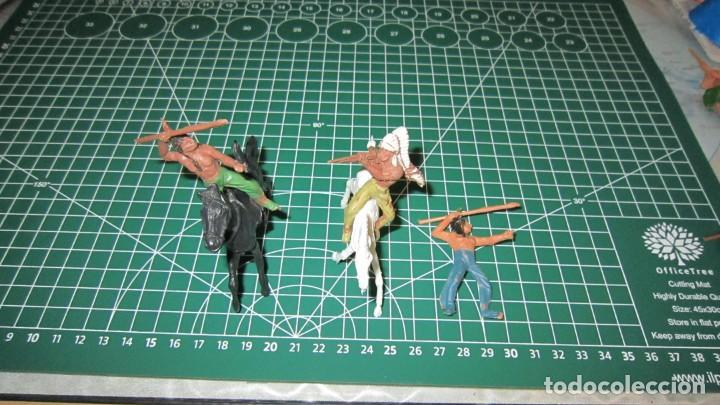 FIGURAS DE VAQUEROS E INDIOS DE COMANSI / ,PECH, JECSAN, STARLUX (Juguetes - Figuras de Goma y Pvc - Comansi y Novolinea)