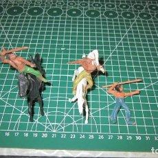 Figuras de Goma y PVC: FIGURAS DE VAQUEROS E INDIOS DE COMANSI / ,PECH, JECSAN, STARLUX. Lote 276036538