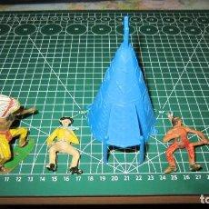Figuras de Goma y PVC: FIGURAS DE INDIOS Y VAQUEROS TAMAÑO GRANDE DE COMANSI / ,PECH, JECSAN, STARLUX. Lote 276040348