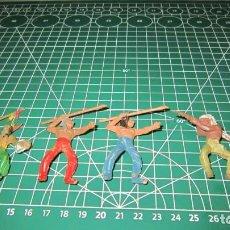 Figuras de Goma y PVC: FIGURAS DE INDIOS DE COMANSI / ,PECH, JECSAN, STARLUX. Lote 276040713
