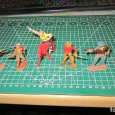 Figuras de Goma y PVC: FIGURAS DE INDIOS Y VAQUEROS COMANSI ,PECH, JECSAN, STARLUX. Lote 276042978