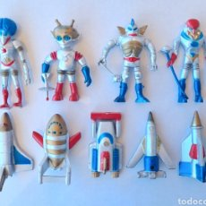 Figuras de Goma y PVC: LOTE 9 FIGURAS: 4 STAR ATTACK FIGHTERS + 5 SPACE JETS / BOOTLEG OUTER SPACE MEN SPACEMEN. Lote 276186623