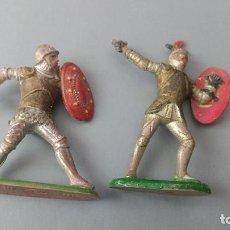 Figuras de Goma y PVC: LOTE 2 FIGURAS MEDIEVAL, GOMA , REAMSA, JECSAN ,ORIGINAL AÑOS 50-60-. Lote 276375608