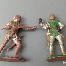 Figuras de Goma y PVC: LOTE 2 FIGURAS MEDIEVAL, GOMA , REAMSA, JECSAN ,ORIGINAL AÑOS 50-60-. Lote 276376178