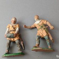 Figuras de Goma y PVC: LOTE 2 FIGURA MEDIEVAL, TORRE DE ASALTO, GOMA , REAMSA,ORIGINAL AÑOS 50-60-BUENA CONSERVACION. Lote 276377283