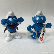 Figuras de Goma y PVC: LOTE 2 PITUFOS - HOMBRE LOBO Y VAMPITRO - SCHELICH. Lote 276400223