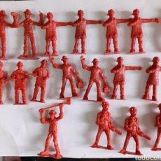 Figuras de Goma y PVC: 22 TRABAJADORES. 4, 5 CM C.U. MADE IN CHINA.. Lote 276499363