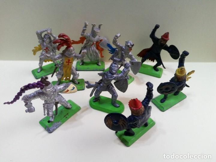 """Figuras de Goma y PVC: LOTE """" F """" DE CABALLEROS , CRUZADOS Y SARRACENOS .BRITAINS DEETAIL 1971 - Foto 8 - 276569938"""