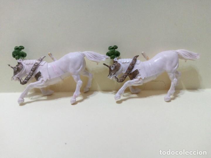 """Figuras de Goma y PVC: LOTE """" A """" DE CABALLOS MEDIEVALES .BRITAINS DEETAIL 1971 - Foto 4 - 276570393"""