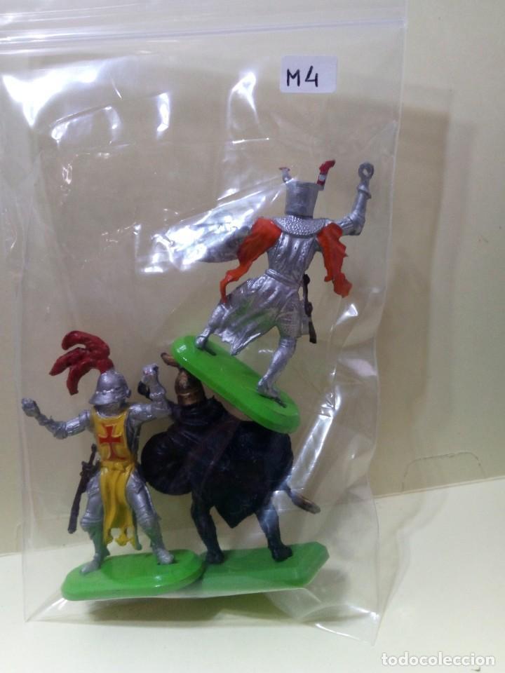 """Figuras de Goma y PVC: LOTE """" M4 """" DE 3 FIGURAS MEDIEVALES.BRITAINS DEETAIL 1971 - Foto 11 - 276574253"""