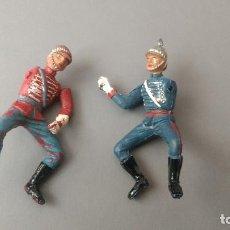Figuras de Goma y PVC: LOTE 2 SOLDADOS GOMA DESFILE EJERCICIO ESPAÑOL TEIXIDO AÑOS 50. Lote 276693563