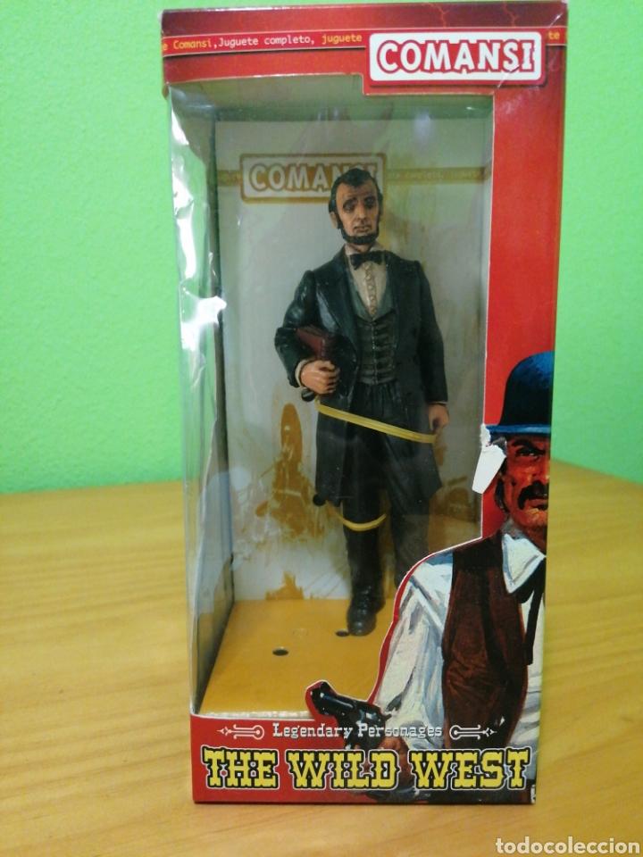 Figuras de Goma y PVC: Magnífica figura de 17 cms de alto de la colección de Wild west comansi. Abraham Lincoln - Foto 2 - 276728613