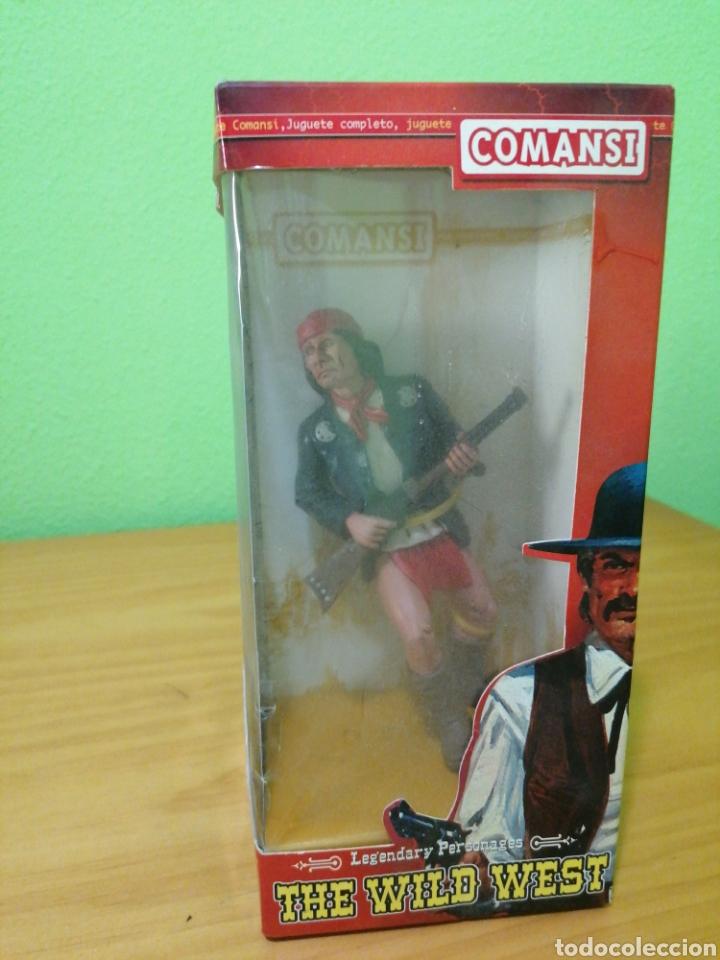 Figuras de Goma y PVC: Magnífica figura de la colección de Wild west comansi. Jerónimo - Foto 2 - 276731443