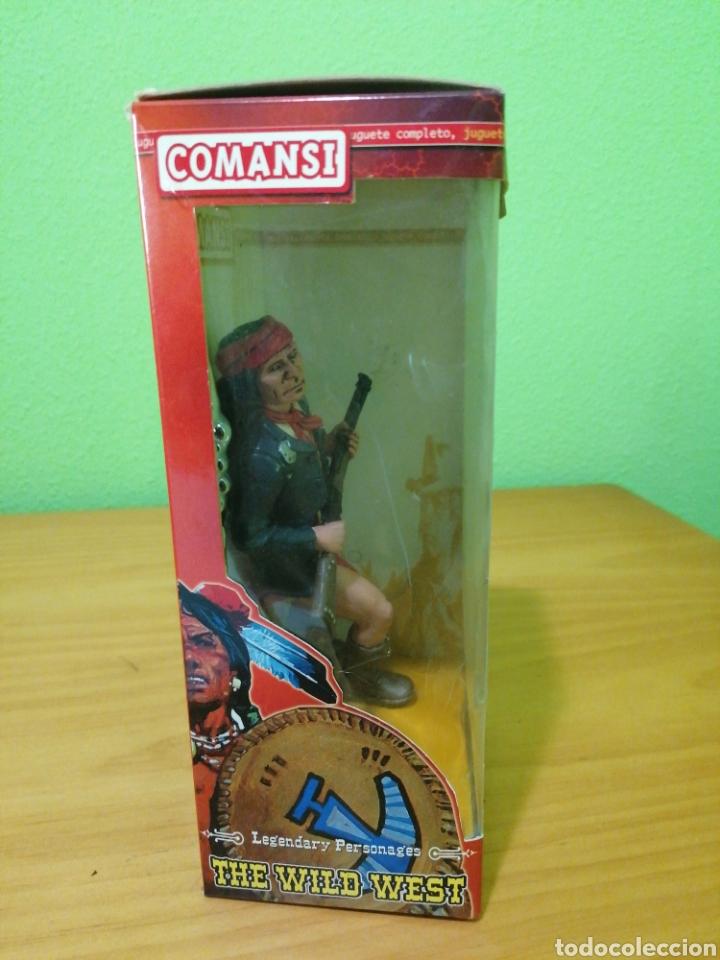 Figuras de Goma y PVC: Magnífica figura de la colección de Wild west comansi. Jerónimo - Foto 3 - 276731443