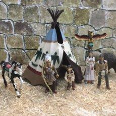 Figuras de Goma y PVC: POBLADO INDIO. COMANSI. (SIN CAJA). Lote 276749783
