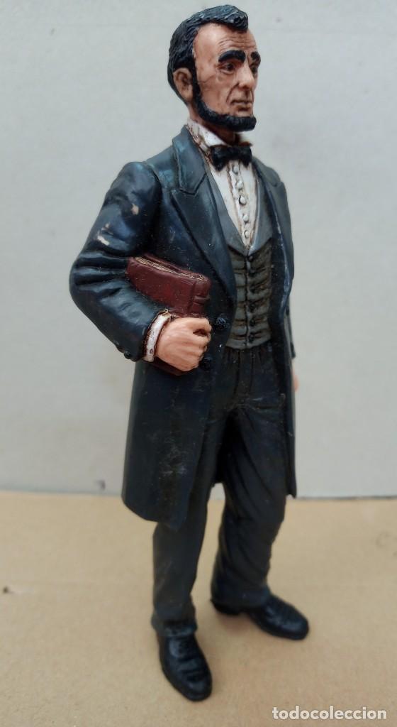 Figuras de Goma y PVC: Comansi figura Wild West de Abraham Lincoln,en buen estado. - Foto 5 - 276819123