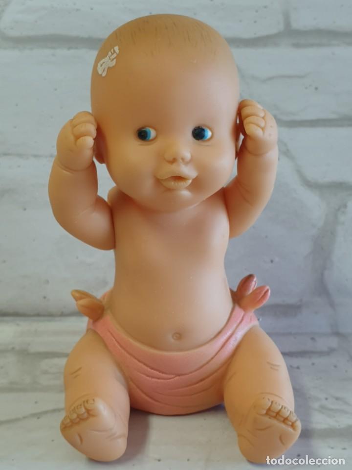 Figuras de Goma y PVC: Antiguo Bebé de goma de brazos articulados de la casa EDA. - Foto 7 - 276912413