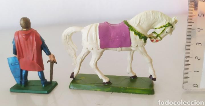 Figuras de Goma y PVC: Figura goma pvc starlux caballo caballero soldado figuritas - Foto 2 - 276974643