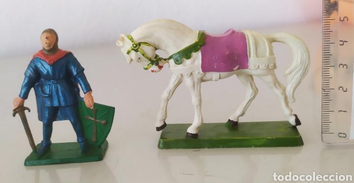 FIGURA GOMA PVC STARLUX CABALLO CABALLERO SOLDADO FIGURITAS (Juguetes - Figuras de Goma y Pvc - Starlux)