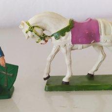 Figuras de Goma y PVC: FIGURA GOMA PVC STARLUX CABALLO CABALLERO SOLDADO FIGURITAS. Lote 276974643