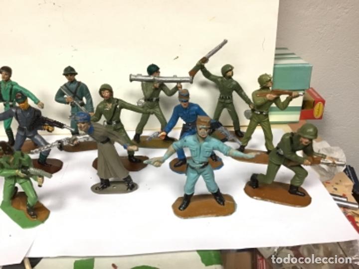Figuras de Goma y PVC: LOTE MILITAR COMANSI SOLDADOS DEL MUNDO PRIMERA EPOCA CUBANO JAPONESES AMERICANO PECH REAMSA JECSAN - Foto 2 - 276978393