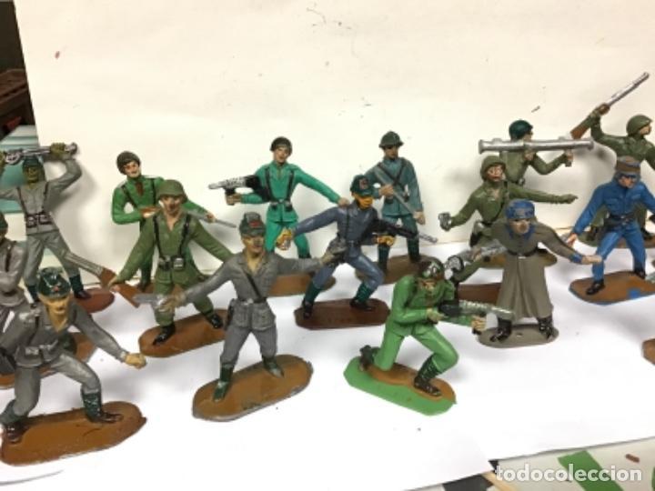 Figuras de Goma y PVC: LOTE MILITAR COMANSI SOLDADOS DEL MUNDO PRIMERA EPOCA CUBANO JAPONESES AMERICANO PECH REAMSA JECSAN - Foto 3 - 276978393