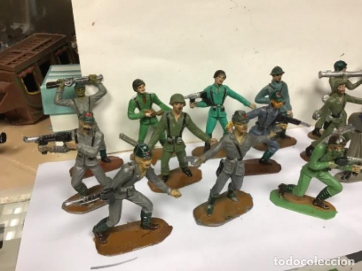Figuras de Goma y PVC: LOTE MILITAR COMANSI SOLDADOS DEL MUNDO PRIMERA EPOCA CUBANO JAPONESES AMERICANO PECH REAMSA JECSAN - Foto 4 - 276978393