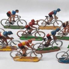 Figuras de Goma y PVC: CICLISTAS LOTE FIGURA PLASTICO SOTORRES ESPAÑA. Lote 276992468