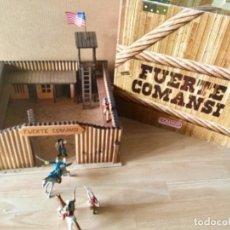 Figuras de Goma y PVC: FUERTE COMANSI + VAQUEROS, INDIOS, FEDERALES Y CABALLOS.. Lote 276999183