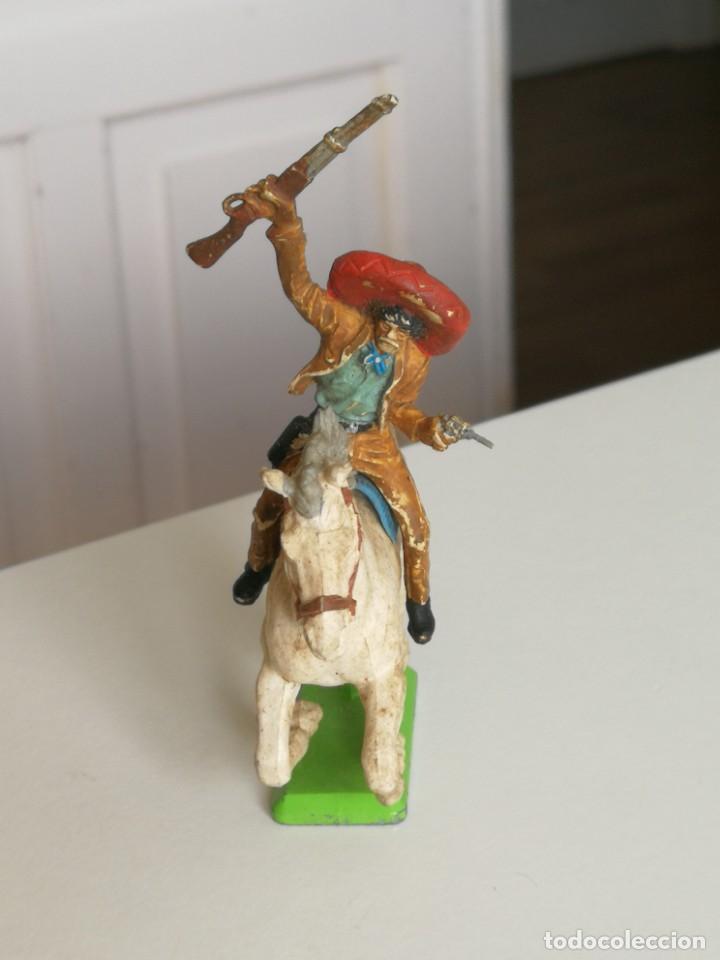 Figuras de Goma y PVC: Figura oeste mexicano de Britain Ltd año 1971 ( no Comansi Jecsan reamsa ) - Foto 2 - 277031793