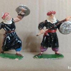 Figuras de Goma y PVC: 2 FIGURAS SERIE MIO CID ARABES CRISTIANOS MEDIEVALES MOROS ORIGINALES AÑOS 60-REAMSA -JECSAN... Lote 277069898