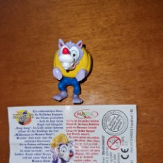 Figuras Kinder: FIGURA KINDER FERRERO ANTIGUA C-E +BPZ HOMBRE LOBO TERROR HALLOWEEN MONSTRUOS CASTILLO FANTASMA. Lote 277082188