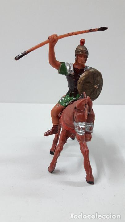 Figuras de Goma y PVC: LEGIONARIO ROMANO A CABALLO . REALIZADO POR JECSAN . ORIGINAL AÑOS 60 - Foto 3 - 277148278
