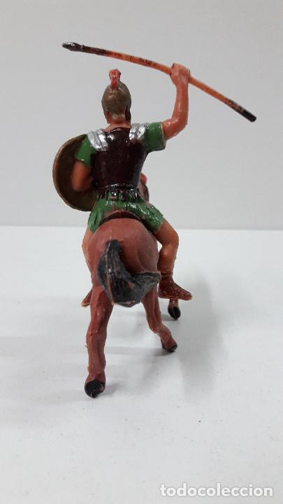Figuras de Goma y PVC: LEGIONARIO ROMANO A CABALLO . REALIZADO POR JECSAN . ORIGINAL AÑOS 60 - Foto 4 - 277148278