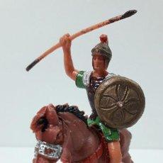 Figuras de Goma y PVC: LEGIONARIO ROMANO A CABALLO . REALIZADO POR JECSAN . ORIGINAL AÑOS 60. Lote 277148278