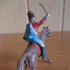 Figuras de Goma y PVC: FIGURA ANTIGUA REAMSA, SOLDADO NAPOLEONICO A CABALLO ( PECH , JECSAN , COMANSI , ETC). Lote 277162928