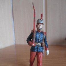 Figuras de Goma y PVC: FIGURA ANTIGUA SOLDADO GUARDIA REAL DESFILANDO ( PECH , JECSAN , REAMSA , COMANSI , ETC). Lote 277163553