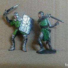 Figuras de Goma y PVC: 2 FIGURAS MEDIEVAL LOS CRUZADOS , JECSAN ,ORIGINAL AÑOS 60. Lote 277172148