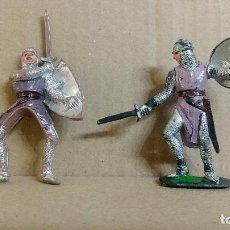 Figuras de Goma y PVC: 2 FIGURAS MEDIEVAL LOS CRUZADOS , JECSAN ,ORIGINAL AÑOS 60. Lote 277172248