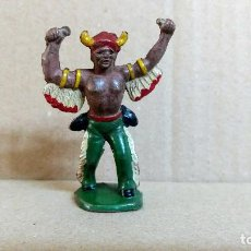 Figuras de Goma y PVC: INDIO REAMSA OESTE AMERICANO ORIGINAL EN GOMA AÑOS 50-BUENA CONSERVACION. Lote 277175453