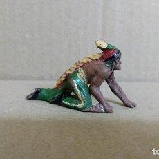 Figuras de Goma y PVC: INDIO REAMSA OESTE AMERICANO ORIGINAL EN GOMA AÑOS 50-BUENA CONSERVACION. Lote 277175743