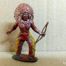 Figuras de Goma y PVC: INDIO REAMSA-JECSAN-PECH.. OESTE AMERICANO ORIGINAL EN GOMA AÑOS 50-BUENA CONSERVACION. Lote 277175903