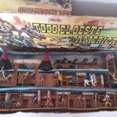 Figuras de Goma y PVC: TODO EL OESTE AMERICANO COMANSI TODO MADERA PRIMERA ÉPOCA AÑOS 60 REF 222 CAJA 85 CM. Lote 277185603
