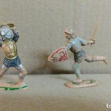 Figuras de Goma y PVC: 2 SOLDADOS MEDIEVAL TORNEO REAL , REAMSA ,ORIGINAL AÑOS 50-60-PINTURA ORIGINAL. Lote 277516593
